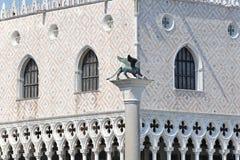 De leeuw van Venetië stock foto