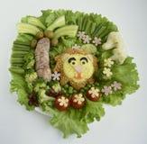 De leeuw wordt gemaakt van rijst Stock Afbeeldingen