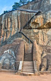 De Leeuwen Paw Rock Entrance At Sigiriya, Sri Lanka Royalty-vrije Stock Foto's