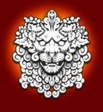 De leeuwmotief van de steen Royalty-vrije Stock Foto's