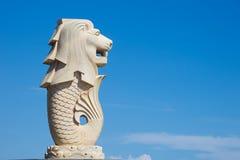 De leeuwvissen van het beeldhouwwerk Stock Afbeeldingen