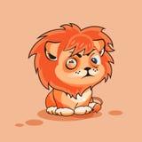 De leeuwwelp loenst Stock Afbeelding
