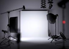 De lege Achtergrond van de Fotostudio Stock Foto's