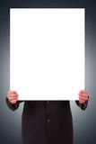 De Lege Affiche van de mensenholding Stock Foto's
