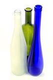 De lege alcoholische flessen van het drankenglas Royalty-vrije Stock Foto