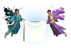 De Lege Banner van de Holding van feeën Stock Afbeelding
