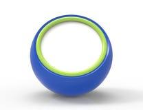 De lege blauwe 3d knoop geeft terug Stock Fotografie