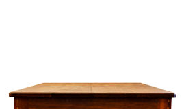 De lege donkere houten lijstbovenkant isoleert op witte achtergrond, verlaat kuuroord Stock Afbeelding