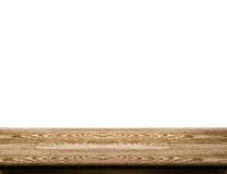 De lege donkere houten lijstbovenkant isoleert op witte achtergrond, verlaat kuuroord Stock Foto's