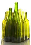 De lege Flessen van de Wijn stock afbeelding