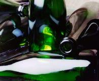 De lege Flessen van de Wijn royalty-vrije stock afbeelding