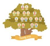 De lege frames en de naamplaatjes worden individueel gegroepeerd genealogie Stock Fotografie