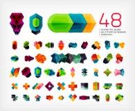 De lege geometrische malplaatjes van het bannerontwerp Royalty-vrije Stock Fotografie