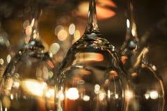 De lege Glazen van de Wijn Royalty-vrije Stock Fotografie