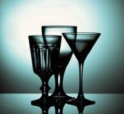 De lege Glazen van de Wijn Stock Fotografie