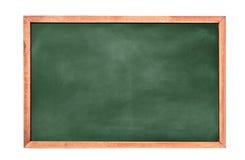 De lege groene bordtextuur hangt op de witte muur dubbel kader van groene raad en witte achtergrond stock foto