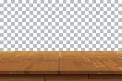De lege houten achtergrond van de lijstbovenkant Oude uitstekende plank tex royalty-vrije illustratie