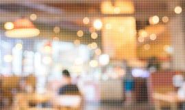 De lege houten lijst en Koffieachtergrond van het winkelonduidelijke beeld met bokeh imag Royalty-vrije Stock Fotografie