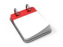 De lege kalender van het Bureau op wit