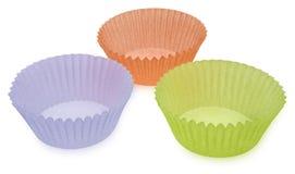 De lege Koppen van de Muffin Stock Afbeeldingen