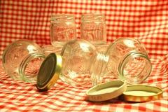 De lege Kruiken van het Glas Stock Afbeelding