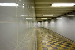 De lege metro van Londen Stock Foto's