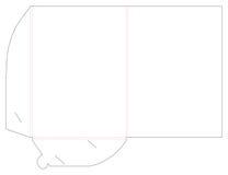 De lege omslag van het shablonmalplaatje en matrijzenbesnoeiing, zegel Stock Afbeeldingen