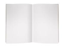 De lege Pagina van het Tijdschrift stock foto