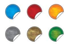 De lege pictogrammen van de grungesticker vector illustratie