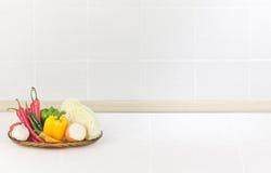 De lege ruimte in de keuken Stock Afbeeldingen