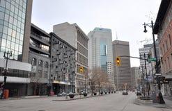 De lege straat van de binnenstad Royalty-vrije Stock Foto