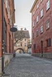 De lege straat van Uppsala Stock Afbeeldingen