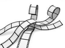 De lege Stroken van de Film Stock Afbeeldingen