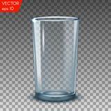 De lege transparante water het drinken glazen isoleerden vectorillustratie Stock Foto's