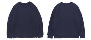 De lege van het de marinemalplaatje van de sweatshirtkleur voor en achtermening Stock Foto