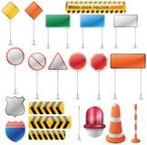 De lege verkeerstekeninzameling voor creatief art. Stock Fotografie