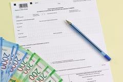 De lege vorm van het belastingsdocument in de Russische taal 'Verklaring op de belasting aan inkomens van fysieke personen ' royalty-vrije stock afbeelding