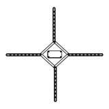 de lege waarschuwingen van contourhulpmiddelen met kettingenpictogram stock illustratie