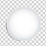 De lege witte achtergrond van de schotelplaat Stock Afbeelding