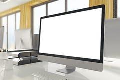 De lege witte kant van de computervertoning Royalty-vrije Stock Fotografie