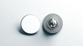 De lege witte ronde zilveren spot van het reverskenteken omhoog, voorrug Royalty-vrije Stock Afbeelding