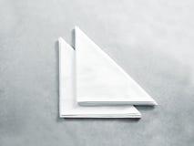 De lege witte spot van het restaurantservet omhoog, stock foto