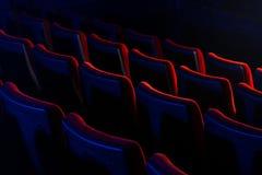 De lege zetels van het filmtheater Royalty-vrije Stock Afbeeldingen