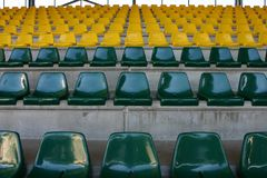 De lege Zetels van het Stadion Stock Fotografie