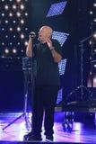 De legendarische zanger Phil Collins opent het US Open 2016 vanavond uitvoerend zijn legendarische klap ` in de Lucht ` stock foto's