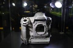 De legering van het prototypemagnesium van Nikon-camera royalty-vrije stock afbeeldingen