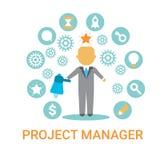 De Leider Banner van Icon Business Process van de Projectleider Royalty-vrije Stock Fotografie