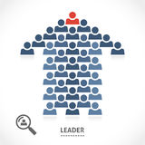 De leider kent altijd de juiste richting vector illustratie