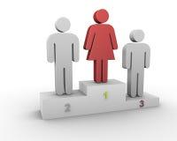 De leider van de vrouw. vector illustratie