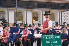 De leider van een orkest Stock Foto